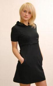 Домашнее платье с капюшоном для кормящей мамы ― интернет-магазин колготок Цветана